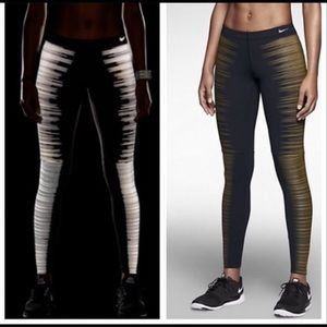 Nike Gold Reflective Leggings